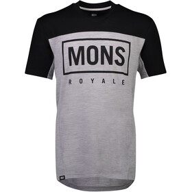 Mons Royale Redwood Enduro V-Neck T-Shirt Men black/grey marl